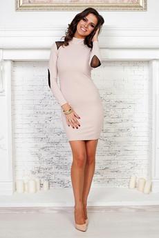 Платье цвета нюд Angela Ricci со скидкой