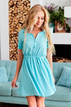 Голубое платье рубашка Mollis