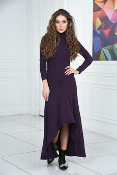 Платье с длинными рукавами митенками Mondigo