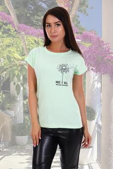 Салатовая футболка из хлопка Натали