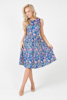 Летнее синее платье Angela Ricci со скидкой